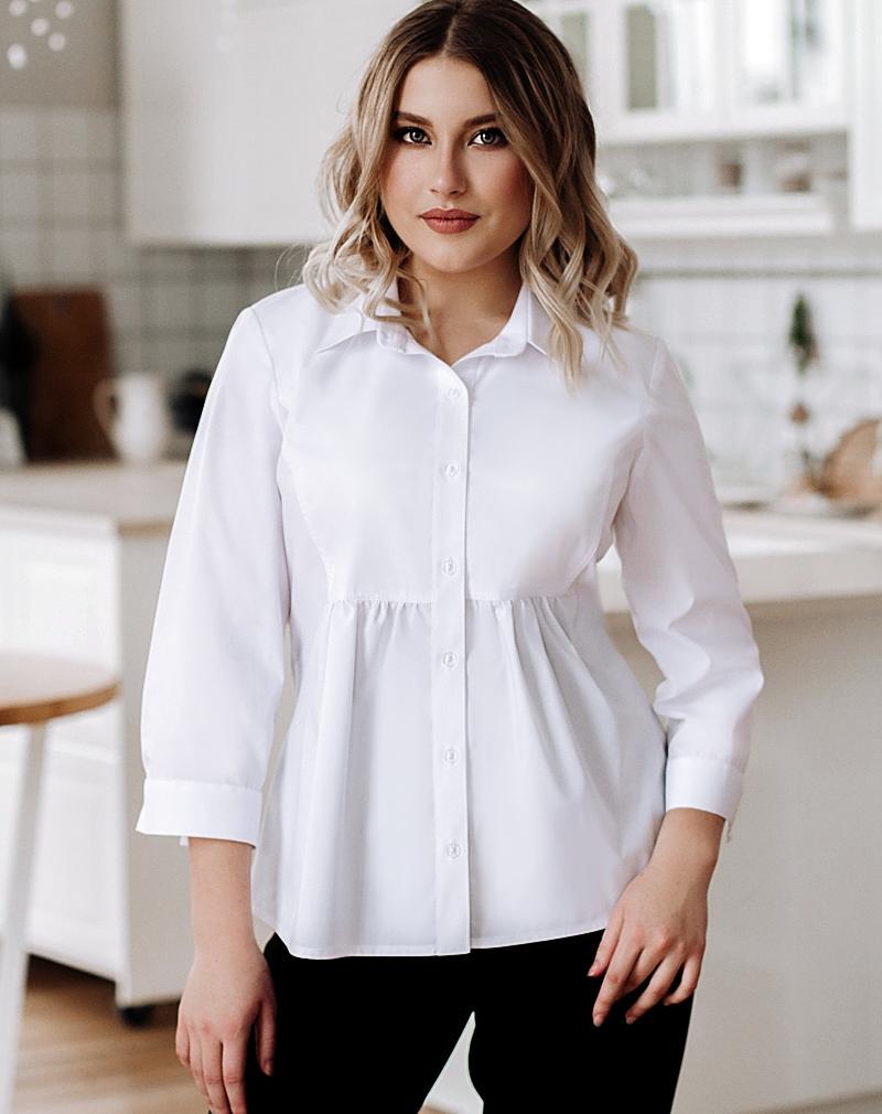 Белые  блузки  Виктория
