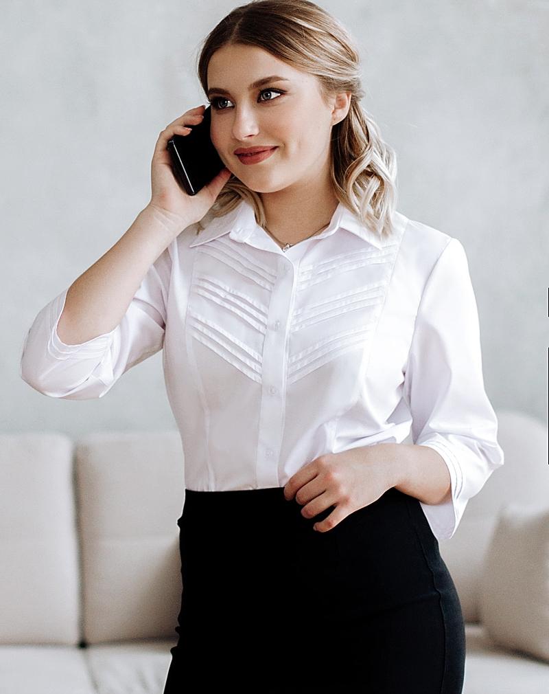 Белые  блузки  Дарья