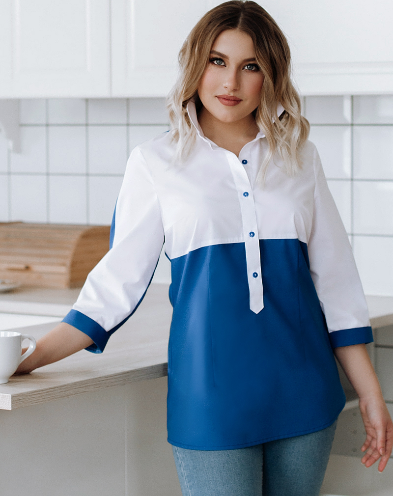 Белые  блузки  Кристина