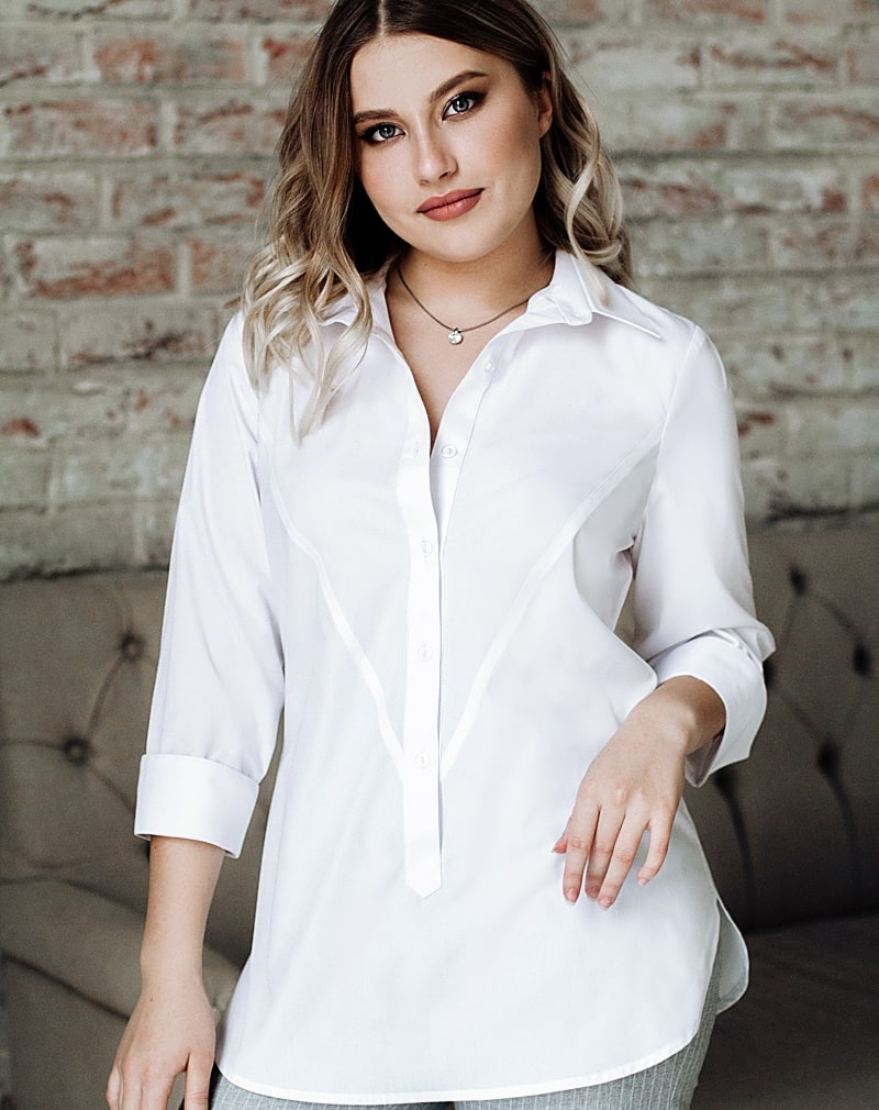 Белые  блузки  Лана